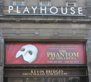 Edinburgh Playhouse Front Sign